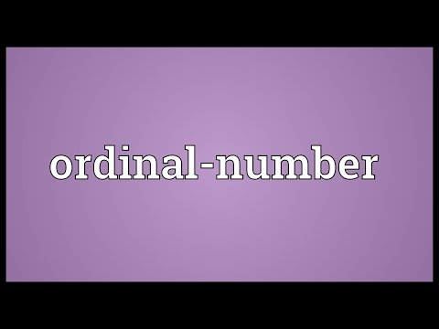 Ordinal-number Meaning