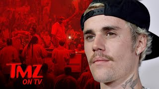 Justin Bieber Crashes Kanye West's Sunday Service | TMZ TV