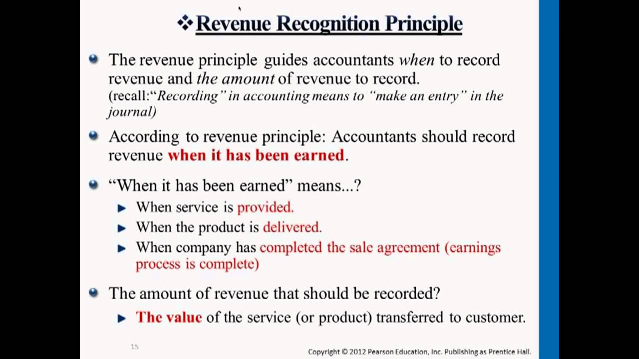 revenue recognition meaning in accounting