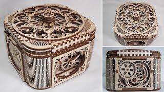 Шкатулка-конструктор из дерева. Шкатулка с механизмом и секретом