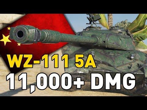 World of Tanks    WZ-111 5A - 11,000+ DMG...