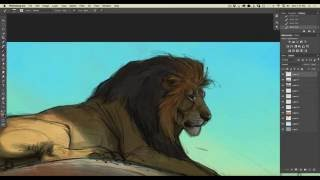 Speed Paint - Photoshop - Lion on a Rock