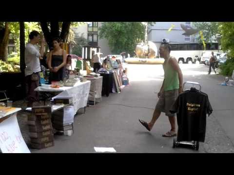 Capital on sale at Art Market in Park Tabor in Ljubljana, Slovenia, 4th Aug 2012