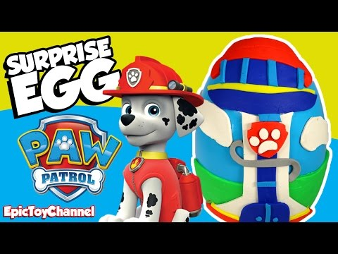 Thumbnail: PAW PATROL Nickelodeon Play Doh Surprise Egg Toys + PJ Masks Headquarters & Blaze Surprise Toys