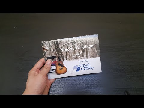 [soundCARD] Central Music Academy Customized Greeting Cards with Sound