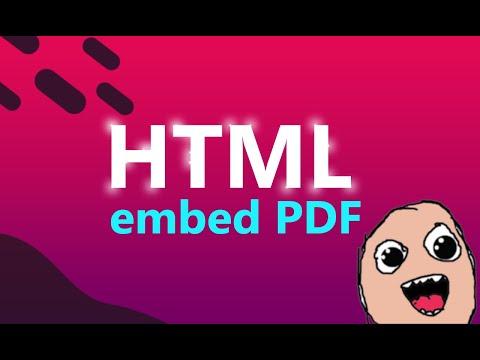 HTML Embed PDF