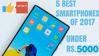 TOP 5 BEST SMARTPHONES UNDER ₹ 5000 || TOP 5 BEST BUDGET SMARTPHONES UNDER ₹ 5000 (2017)