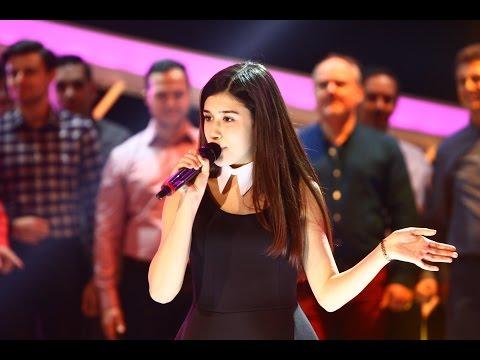 """Emily Istrate, din Chișinău, cântă """"Hora din Moldova"""", pe scena Next Star"""