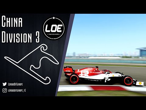 League of Europe | F1 2019 |D3|Season 3 | Round 3 China