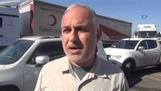 Türkiye'den Irak'a Yardım Tırları Geçmeye Başladı