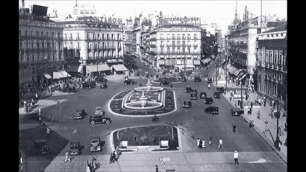 Madrid ayer y hoy fotos antiguas y actuales youtube for Puerta del sol hoy en directo