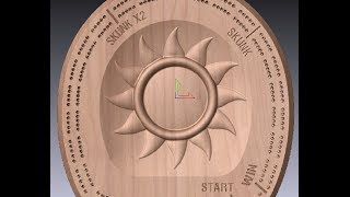 Cnc Machine A Sun Cribbage Board