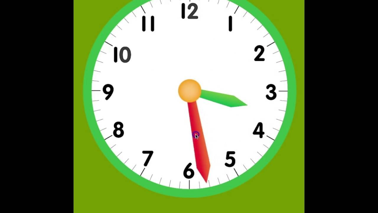 How To Tell Time On An Analog Clock Youtube
