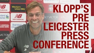 Jürgen Klopp's pre-Leicester City press conference | Squad-depth, Mo Salah and more
