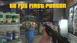 GTA V PC First Person Mode 60 FPS Gameplay