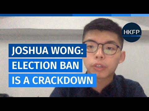 Disqualified election hopeful Joshua Wong condemns Beijing's 'biggest ever crackdown'