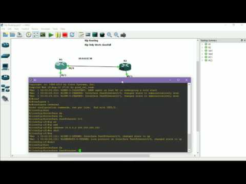 Configuring RIP(Routing Information Protocol) in GNS3