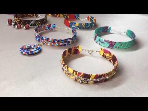 African print handmade jewelry