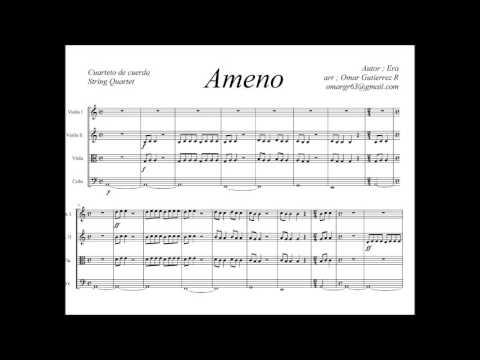 Partitura - Ameno - cuarteto de cuerdas