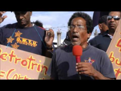 Striking Workers of (IOCL) Inland Offshore Contractors Ltd. Picket Petrotrin  P-a-P - 17,11,2016