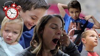 EARLY MORNING ROUTINE | SWIM PRACTICE, ELEMENTARY SCHOOL, PRESCHOOL | FOUR KIDS CRAZY SCHEDULES