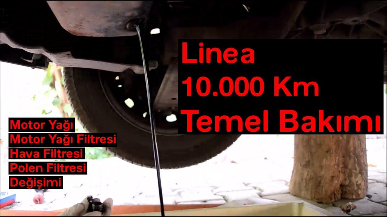 fiat linea 1.3 multijet dizel motor yağı değişimi - youtube