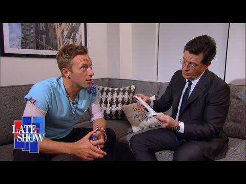 Chris Martin Improves The Late Show Theme
