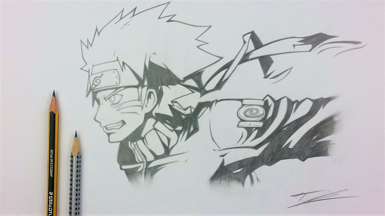 Drawing naruto uzumaki pencil art tolgart