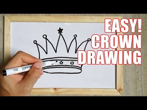 How To Draw A Crown Step By Step Easy For Beginners & Kids – Simple Crowns Drawing Tutorial