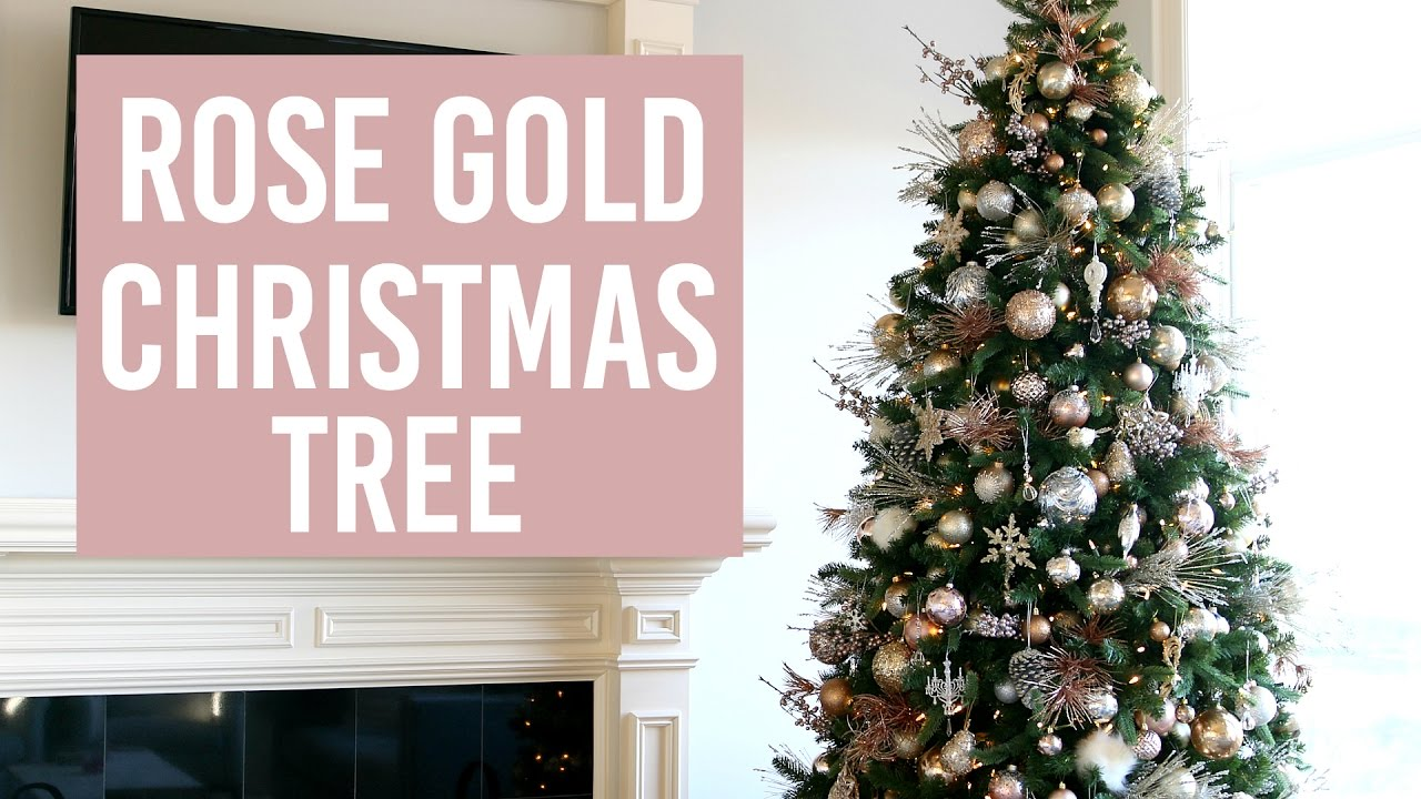 decorate with me christmas tree how to youtube - Rose Gold Christmas Tree Decorations