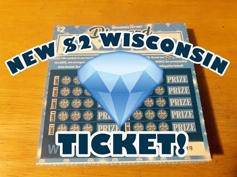 NEW $2 TICKET .. DIAMOND DAZZLER!! Wisconsin Lottery Scratch Offs!!