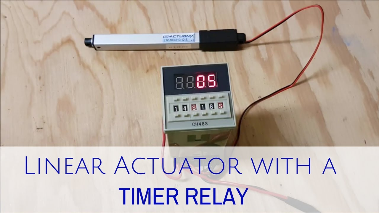 using linear actuator with a 12v timer relay [ 1280 x 720 Pixel ]