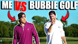 Epic 9 hole match against Bubbie Golf | CRAZY finish | Micah Morris