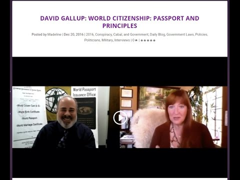 World Citizenship Passport and Principles --