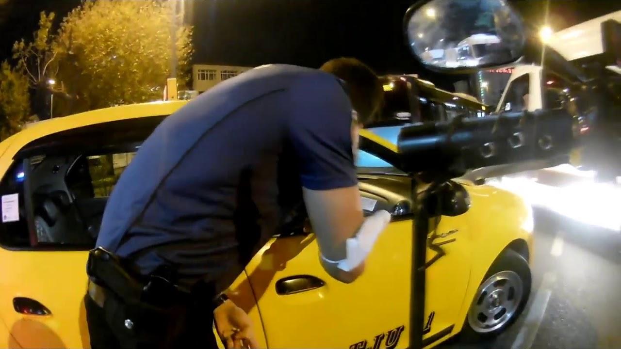 Sıkıştıran Taksiyle Kavga + Polis Baskını