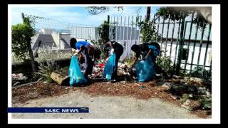 The World Mission Society Church of God on a clean up operation