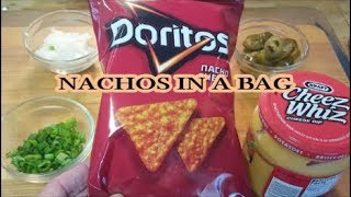 HOW TO MAKE DORITOS NACHOS IN A BAG (Game Day Idea)