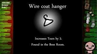 Binding Of Isaac Items: Wire Coat Hanger