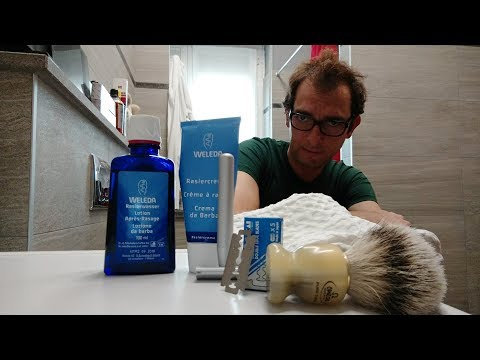 Standard Razor - KAI - Weleda Shaving Cream - Omega 621 - Weleda AS