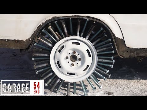 Using 100 bolts to make a wheel