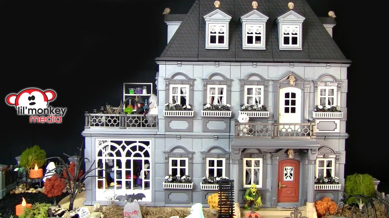 Diy Playmobil Spooky Mansion Youtube