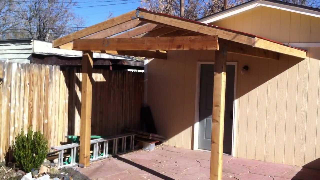 building a patio cover patio cover install part 2