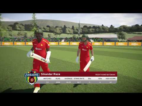 SCOTLAND VS ZIMBABWE 2017 IN DON BRADMAN CRICKET 17 PS4 ( ZIMBABWE TOUR OF SCOTLAND)