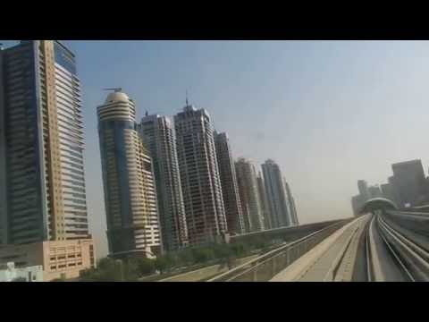 Dubai - Public Transport - Red Line from UAE Exchange to BurJuman (rear view) 2016 07 22