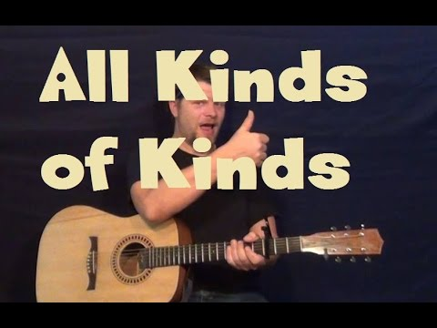 All Kinds of Kinds (Miranda Lambert) Easy Guitar Lesson How to Play Tutorial