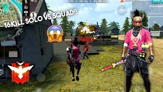 TOP GLOBAL MUKILL NGAMUK DI RANK SAPU BERSIH 1 SERVER SOLO VS SQUAD KILL 16!!