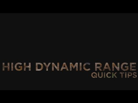 High Dynamic Range photography - quick tips - Canon