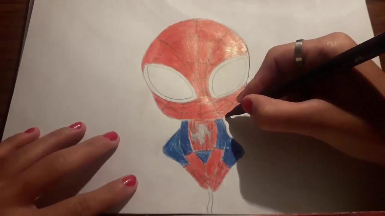 Dibuja y Colorea Spiderman hombre araña   Dibujos Para Niños – Dibujando desafío
