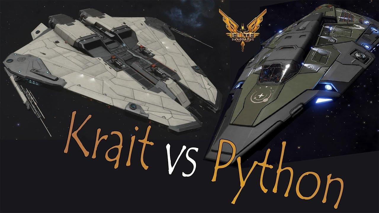 Elite:Dangerous  Krait Mk II vs Python