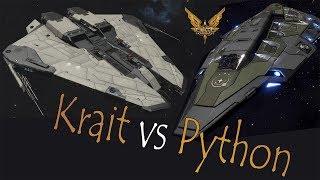Elite:Dangerous. Krait Mk II vs Python